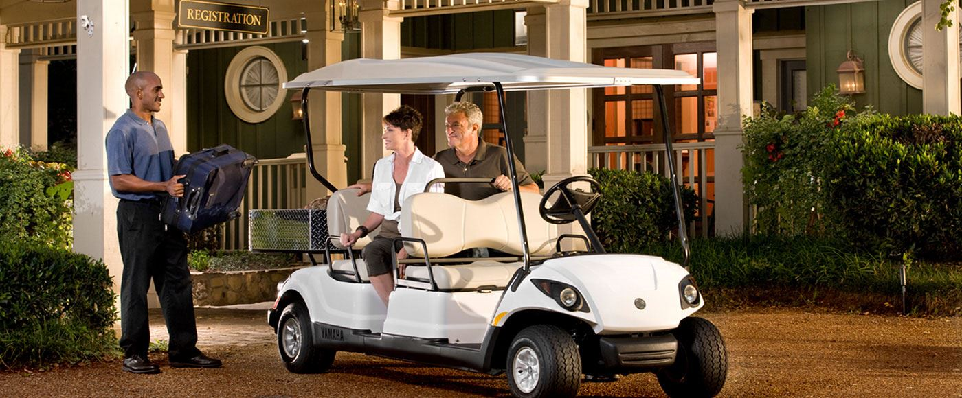 yamaha 4 seater all forward facing seats with cargobed, Yamaha golfcar, Yamaha golfcart, Yamaha electric car, Yamaha battery car